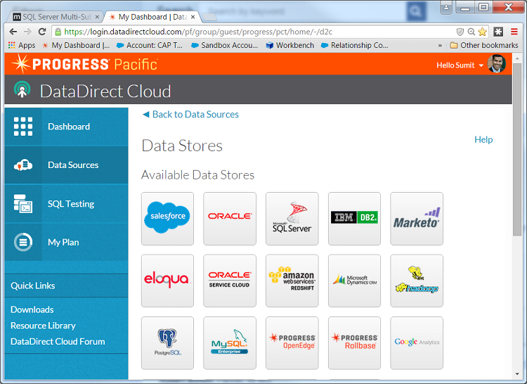 DataDirect Cloud OData sources